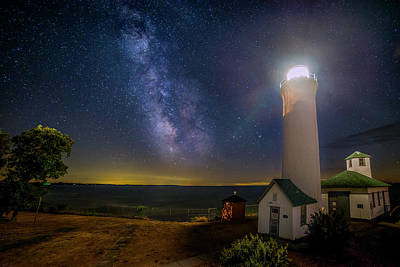 Lighthouses Photograph - Tibbetts Point Night by Mark Papke