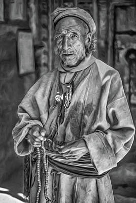 Tibetan Buddhism Photograph - Tibetan Refugee Bw by Steve Harrington