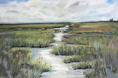 Tidal Basin Painting - Tidal Marshes At Jekyll Island by Kathleen Hartman
