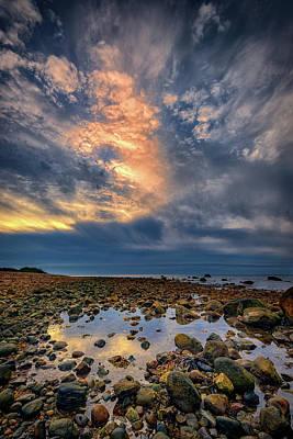Tide Pool At Montauk Point Print by Rick Berk