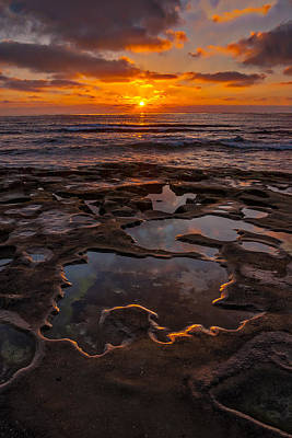 Tidepools At La Jolla Print by Peter Tellone