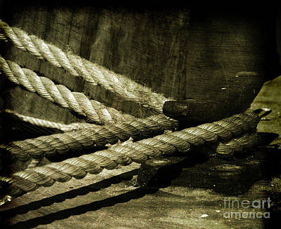 Antique Look Photograph - Tied Down For Good by Susanne Van Hulst