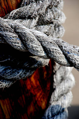 Boat Photograph - Tied Together by Susanne Van Hulst