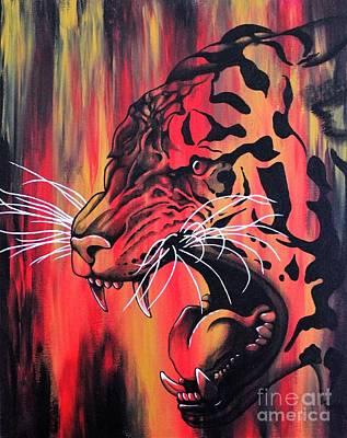 Black History Painting - Tiger by Dan Gee