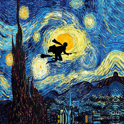 Fandom Photograph - Young Wizard Starry The Night Art Painting by Three Second