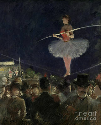 Tightrope Walker Print by Jean Louis Forain