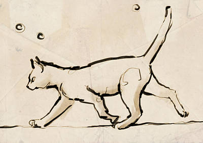 Tightrope Drawing - Tightrope Walking by H James Hoff