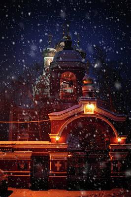 Photograph - Tikhvin Church Gates. Snowy Days In Moscow by Jenny Rainbow