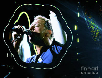 Coldplay Digital Art - Chris Martin - A Head Full Of Dreams Tour 2016  by Tanya Filichkin