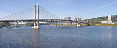 Work In Progress Photograph - Tilikum Crossing Bridge Portland Oregon.-2 by Gino Rigucci