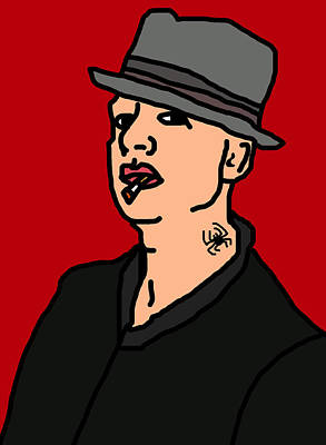 Fedora Digital Art - Tim Armstrong by Jera Sky