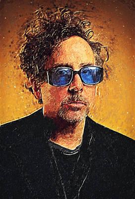 Johnny Depp Digital Art - Tim Burton by Taylan Apukovska