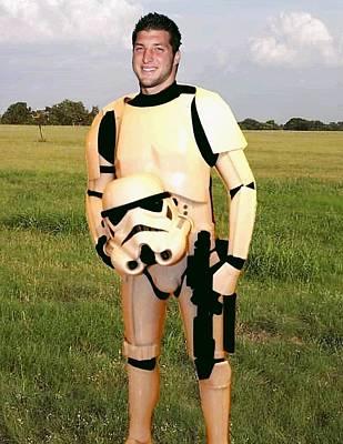 Tim Tebow Stormtrooper Print by Paul Van Scott