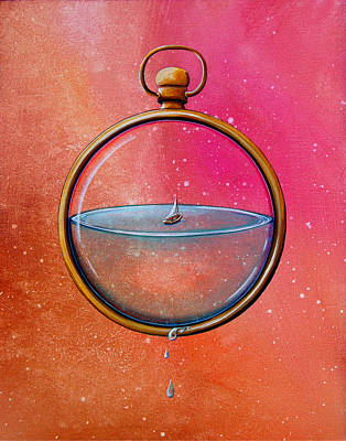 Steampunk Painting - Time And Space by Cindy Thornton