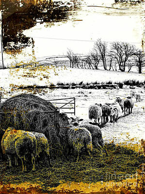 Pasture Scenes Mixed Media - Time For Tea by Gillian Singleton