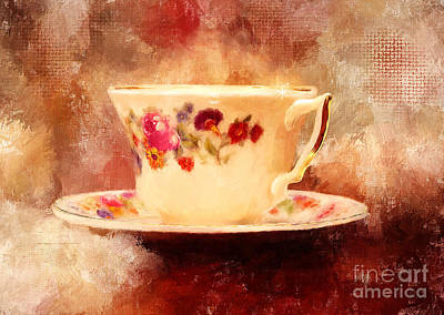 Time For Tea Print by Lois Bryan