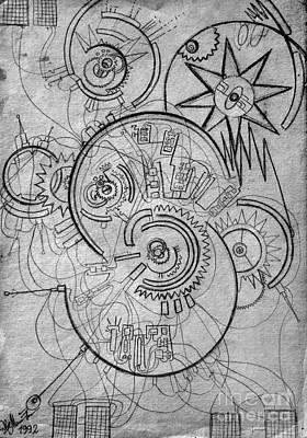 Time Machine. Principal Scheme 3 Print by Sofia Goldberg
