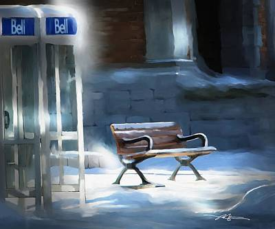 Time Passages - Call Waiting Print by Bob Salo