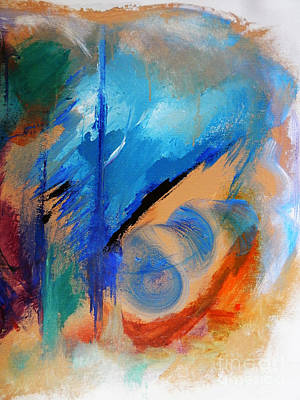 Abstract Painting - Time Spiral by Lisa Kaiser