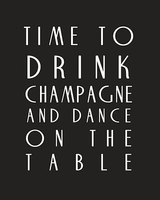Time To Drink Champagne Print by Georgia Fowler