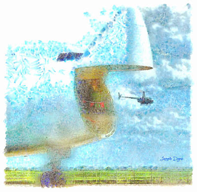 Airfield Digital Art - Time To Eat - Da by Leonardo Digenio