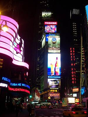 Times Square 1 Print by Anita Burgermeister