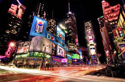 Times Square 2010 New Year Neon Print by Josh Liba
