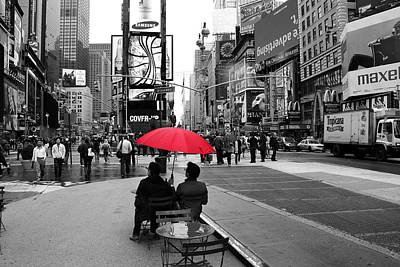 Times Square Photograph - Times Square 5 by Andrew Fare