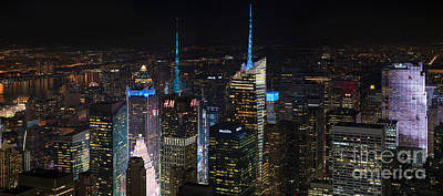 Staten Photograph - Times Square At Night From The Empire State Building by Mike Reid