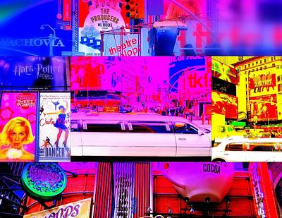 Times Square Frenzy Print by Funkpix Photo Hunter