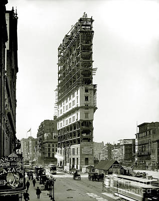 Times Square Photograph - Times Square Under Construction by Jon Neidert