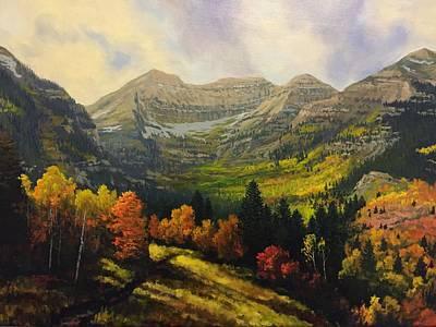 Sundance Painting - Timpanogos Autumn by Scott Baird