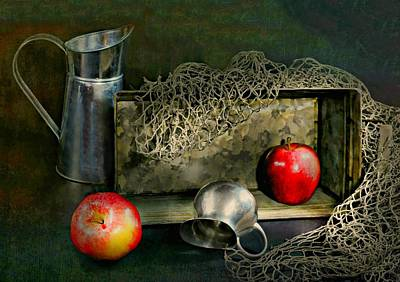 Still Life With Fish Photograph - Tin Apples by Diana Angstadt