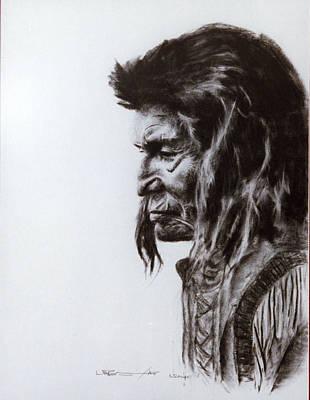 Sioux Drawing - Tin Tin Meet Sa by Wendy A Rosier