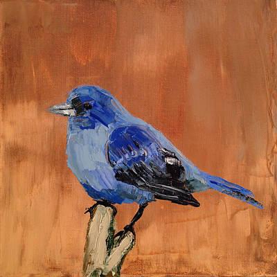 Tiny Blue Original by Nathan Rhoads