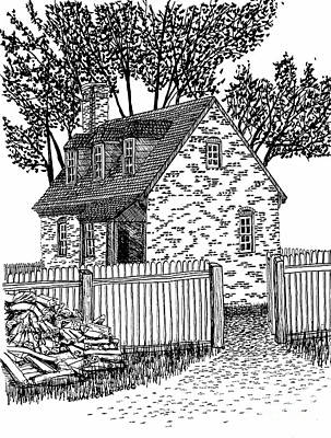 Tiny Brick House Print by Dawn Boyer