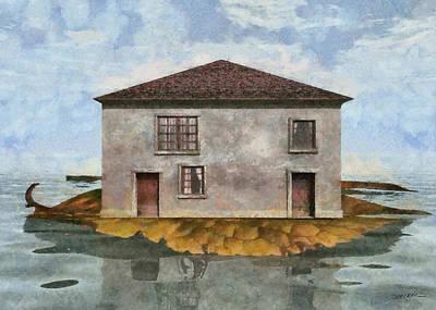 Miniature Digital Art - Tiny House 4 by Cynthia Decker