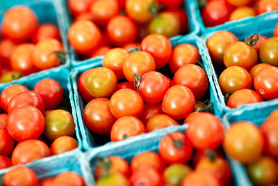 Bushels Photograph - Tiny Little Red Tomatoes by Todd Klassy