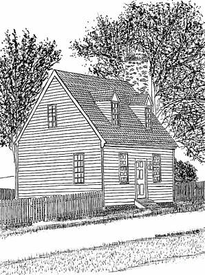 Tiny Restored Home, Historic District, City Of Williamsburg, Virginia Print by Dawn Boyer