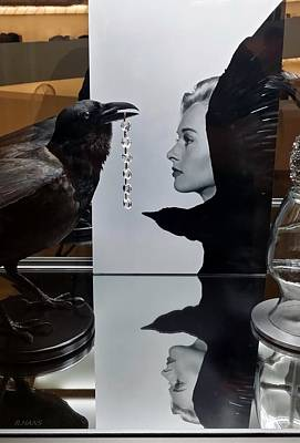 Tippi And The Crow Print by Rob Hans