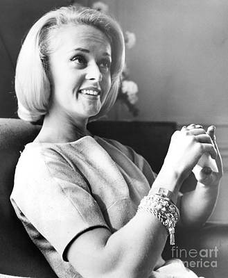Tippi Hedren In Alfred Hitchcock's 'the Birds. 1963 Print by Anthony Calvacca