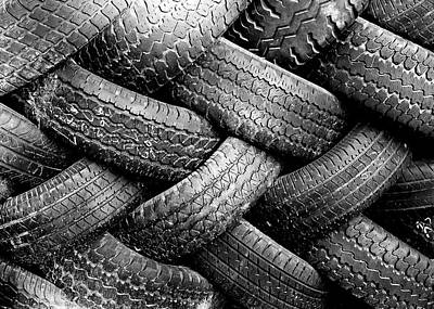 Pattern Photograph - Tired Treads by Todd Klassy