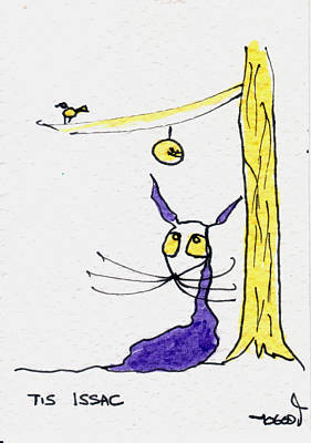 Newton Drawing - Tis Issac by Tis Art