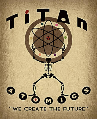 Titan Atomics Print by Cinema Photography