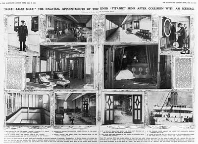 Coffeehouse Photograph - Titanic: Amenities, 1912 by Granger