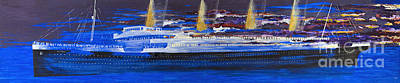 Docking Painting - Titanic-ghost Ship. by Stephen Brooks