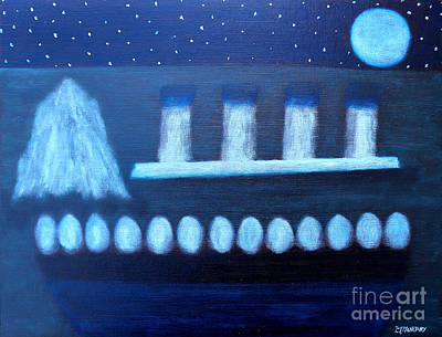 Ice-t Painting - Titanic Lifeboat by Patrick J Murphy