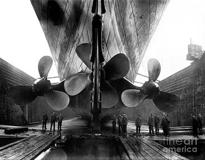 Liner Photograph - Titanic Propellers by Jon Neidert
