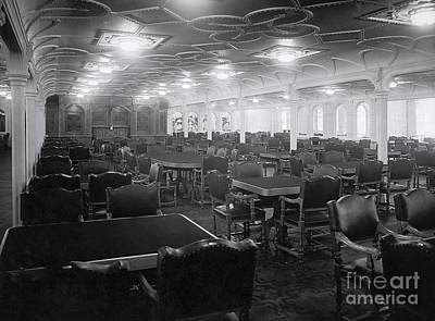 Titanic's First Class Dining Room Print by The Titanic Project
