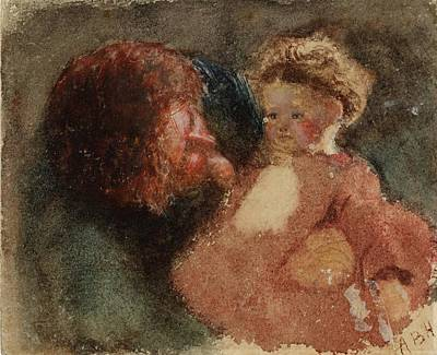 Boyd Painting - Title Head Of A Woman And Child by MotionAge Designs
